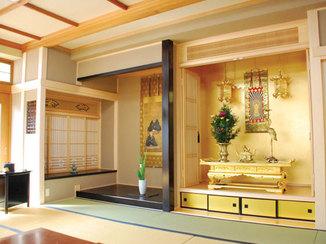 内装リフォーム 仏間を中心としたおもむきのある和室